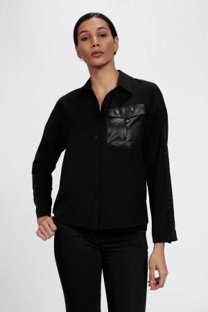 Vangeliza - 5316 Kolları Şerit Detaylı Gömlek